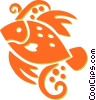 Vector Clipart illustration  of a fish