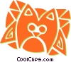 house cat Vector Clipart graphic