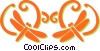 dragon flies Vector Clip Art image