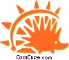 porcupine Vector Clip Art graphic
