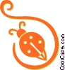 lady bug Vector Clipart picture
