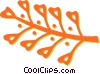 Vector Clipart image  of a leaves