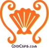 sea shell Vector Clipart image