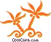 Vector Clipart graphic  of a weeds