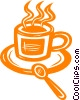 Vector Clipart picture  of a cup of coffee