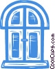 Vector Clipart image  of a door