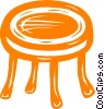 Vector Clip Art image  of a round coffee table