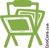 newspaper racks Vector Clip Art graphic