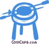 Vector Clipart illustration  of a grills
