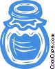 Vector Clipart picture  of a jar of jam