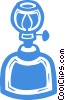 Vector Clipart graphic  of a oil lamps