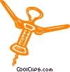 Vector Clip Art graphic  of a corkscrews