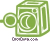 Vector Clip Art graphic  of a bank vault
