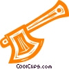 Vector Clip Art graphic  of a hatchets