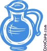 Vector Clip Art image  of a water pitcher