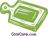 cutting board Vector Clipart image