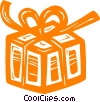 Vector Clipart picture  of a gift