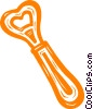Vector Clip Art graphic  of a bottle opener