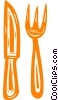 Vector Clip Art graphic  of a eating utensils