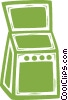 Vector Clip Art picture  of a electric oven