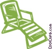 lawn chair Vector Clip Art image