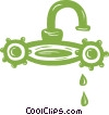 Vector Clip Art graphic  of a faucet