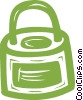 Vector Clipart image  of a lock