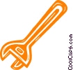 Vector Clipart illustration  of a wrench