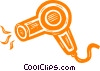 Vector Clip Art graphic  of a hair dryer