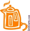 Vector Clip Art graphic  of a coffee pot/maker