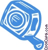 Vector Clip Art image  of a measuring tape