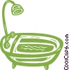 Vector Clipart image  of a bathtub
