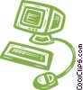 personal computers Vector Clipart illustration
