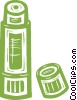 Vector Clip Art image  of a glue stick