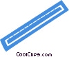 Vector Clipart graphic  of a ruler