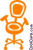 Vector Clip Art graphic  of a office chair