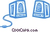 computer speaker Vector Clip Art picture
