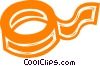 Vector Clip Art graphic  of a roll of tape