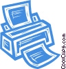 computer printer Vector Clip Art graphic