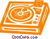 Vector Clipart graphic  of a record player