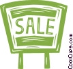 for sale sign Vector Clipart graphic