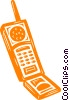 cell phone Vector Clipart graphic