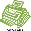 Vector Clipart illustration  of a fax machine