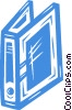 Vector Clipart illustration  of a binder