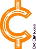 cent sign Vector Clipart picture