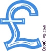 British pound symbol Vector Clipart picture