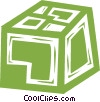 shipping crate Vector Clipart picture