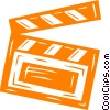 Vector Clipart graphic  of a clapper board