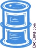 oil drum Vector Clip Art graphic