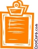 Vector Clip Art graphic  of a clipboard